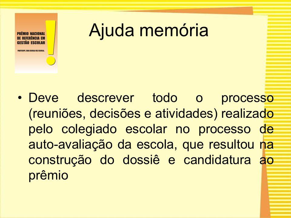 Ajuda memória