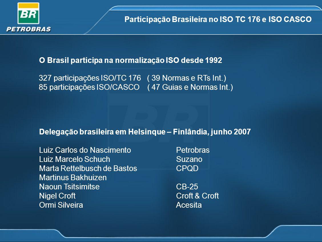Participação Brasileira no ISO TC 176 e ISO CASCO