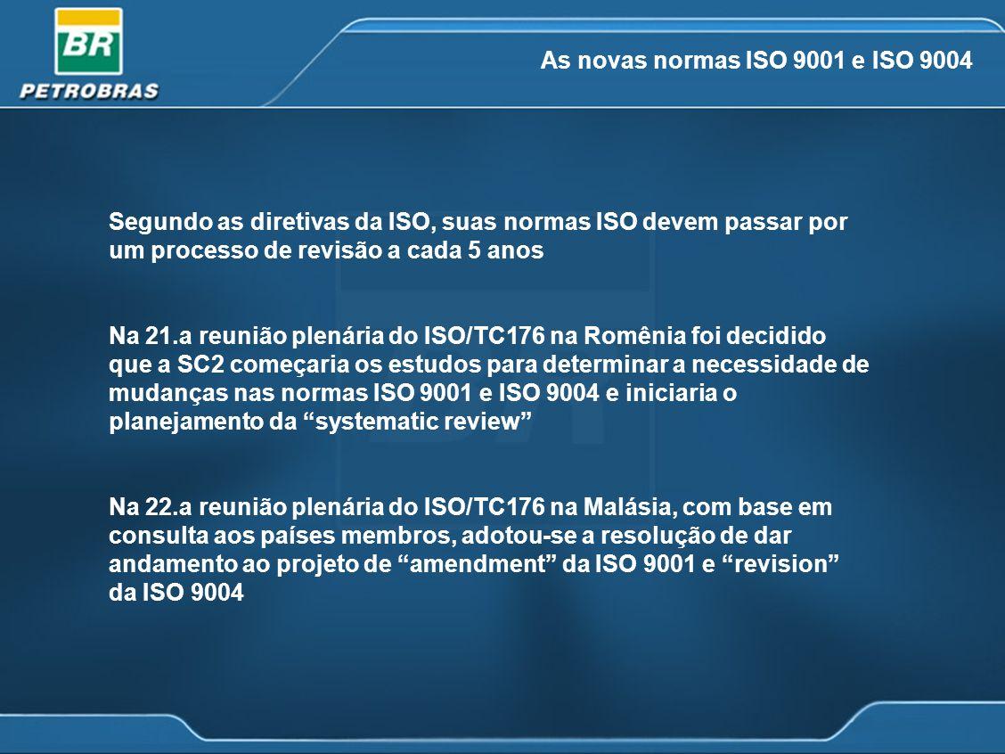 As novas normas ISO 9001 e ISO 9004