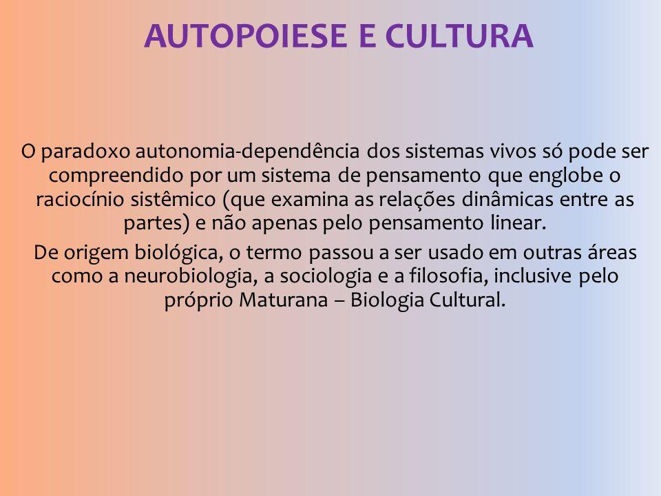 AUTOPOIESE E CULTURA