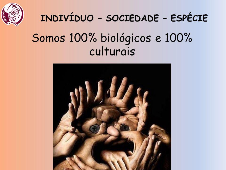 Somos 100% biológicos e 100% culturais