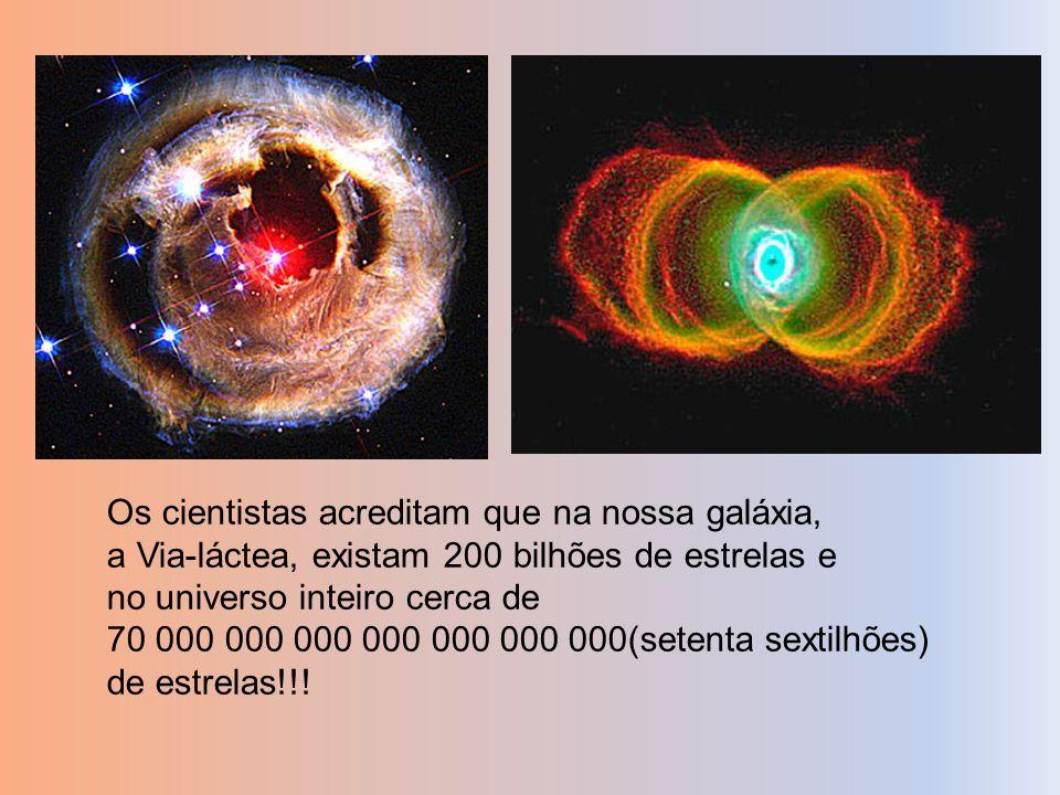 Os cientistas acreditam que na nossa galáxia,
