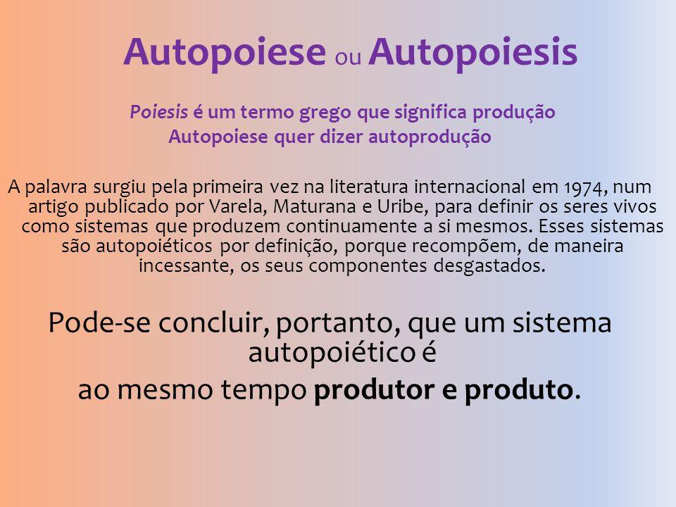 Autopoiese ou Autopoiesis
