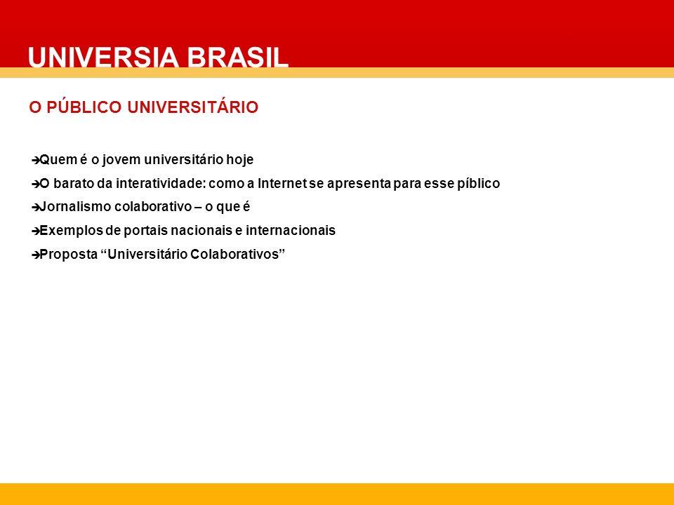 UNIVERSIA BRASIL O PÚBLICO UNIVERSITÁRIO COLOCAR FOTO