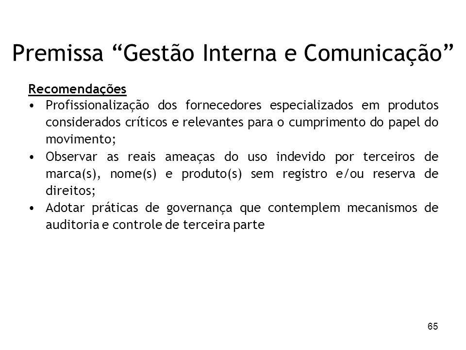 Premissa Gestão Interna e Comunicação