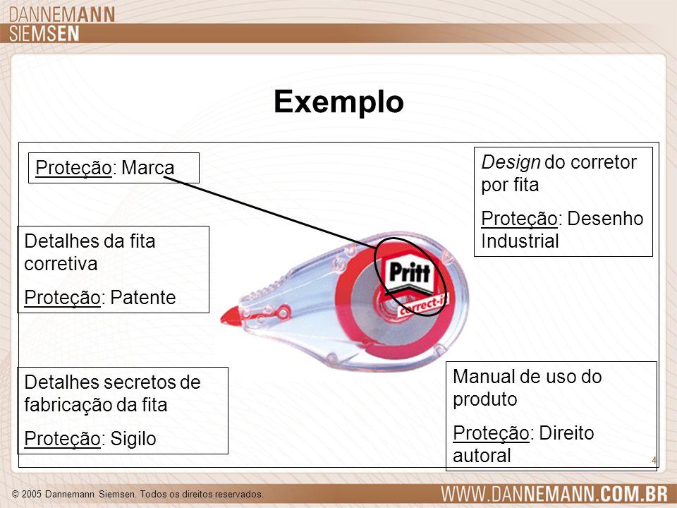 Exemplo Design do corretor por fita Proteção: Marca