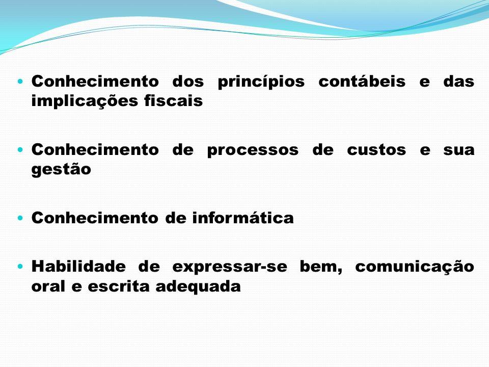 Conhecimento dos princípios contábeis e das implicações fiscais