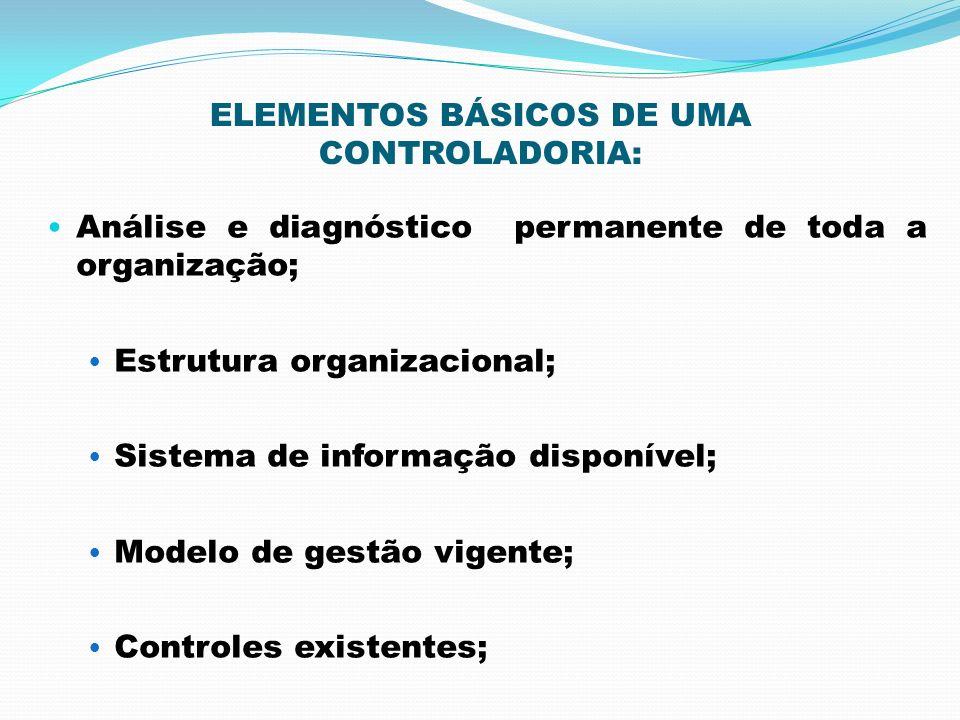 ELEMENTOS BÁSICOS DE UMA CONTROLADORIA: