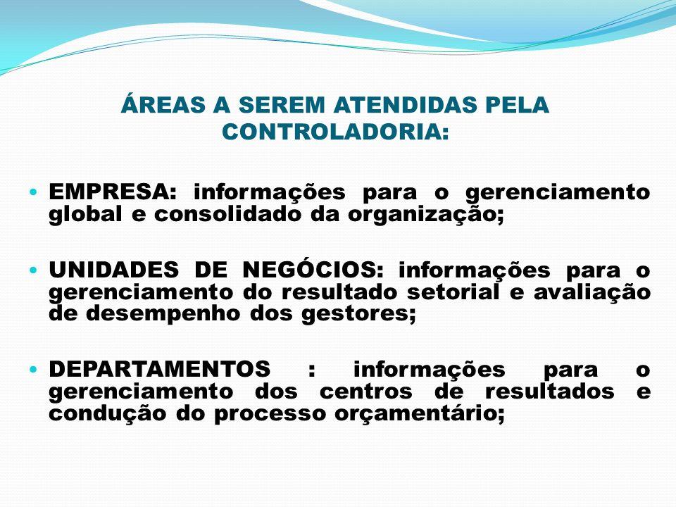 ÁREAS A SEREM ATENDIDAS PELA CONTROLADORIA: