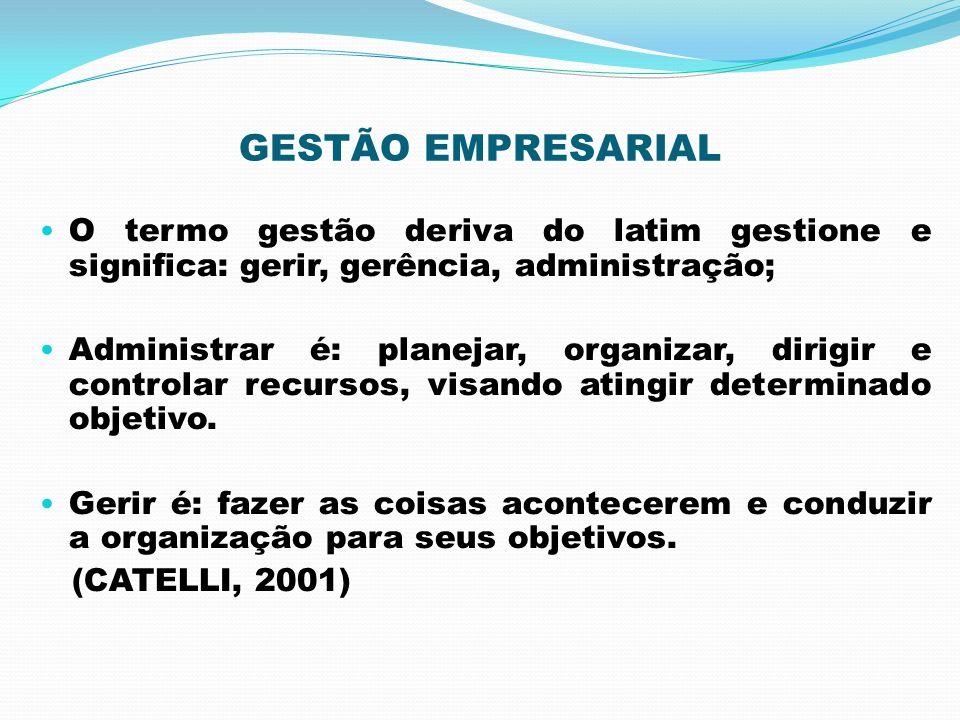 GESTÃO EMPRESARIAL O termo gestão deriva do latim gestione e significa: gerir, gerência, administração;
