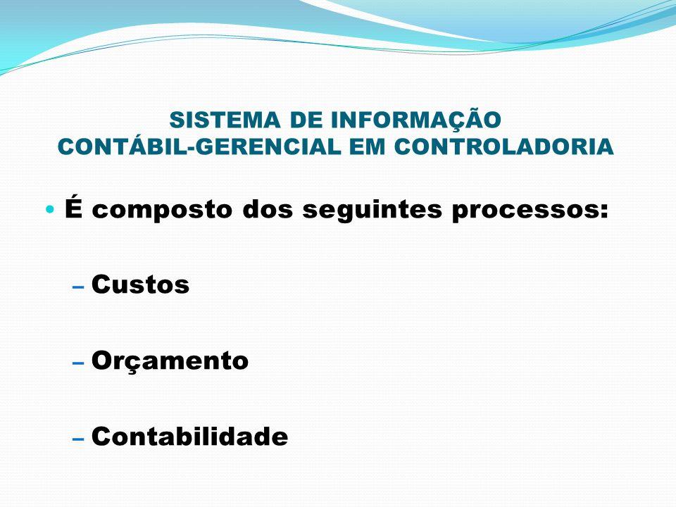 SISTEMA DE INFORMAÇÃO CONTÁBIL-GERENCIAL EM CONTROLADORIA