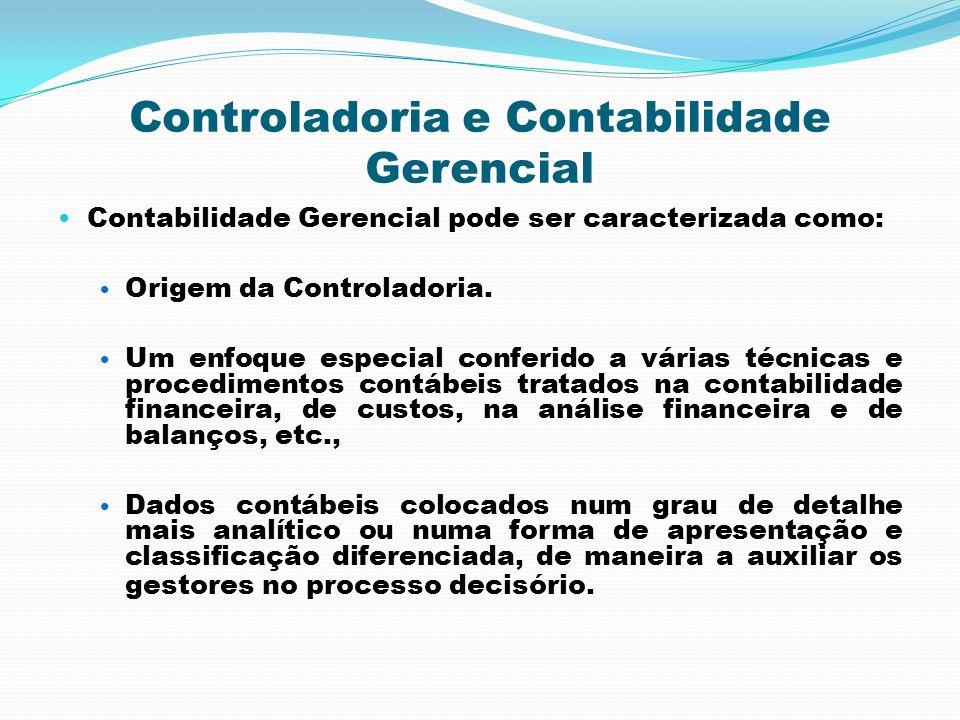 Controladoria e Contabilidade Gerencial