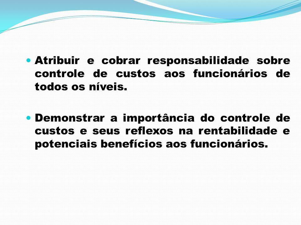 Atribuir e cobrar responsabilidade sobre controle de custos aos funcionários de todos os níveis.