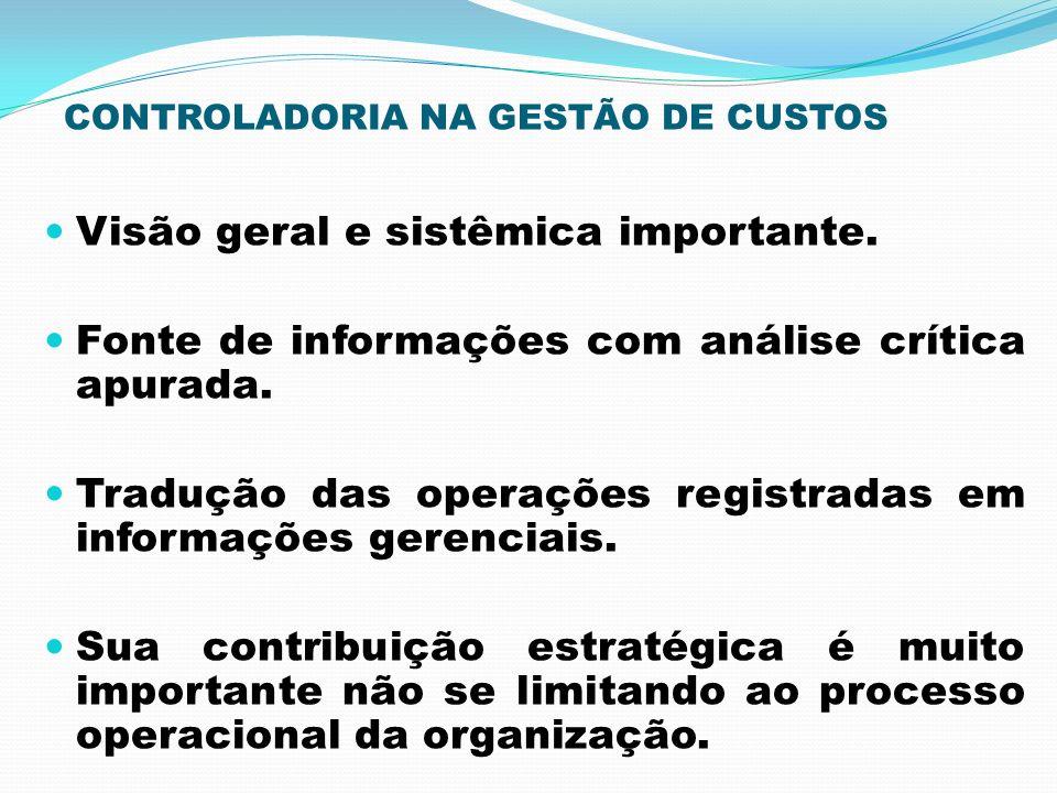CONTROLADORIA NA GESTÃO DE CUSTOS