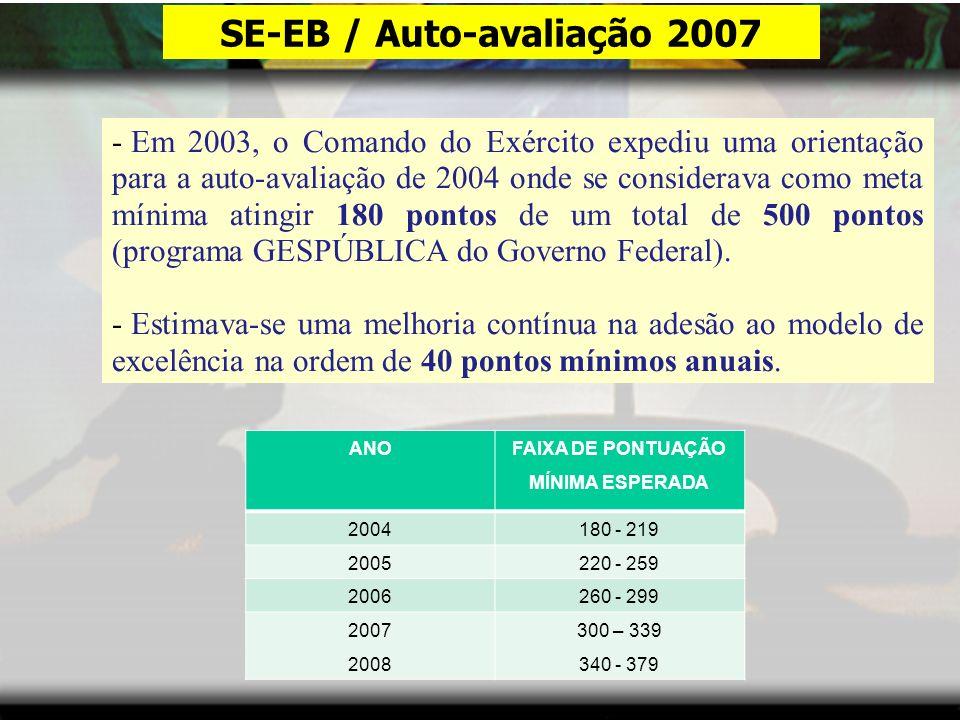SE-EB / Auto-avaliação 2007