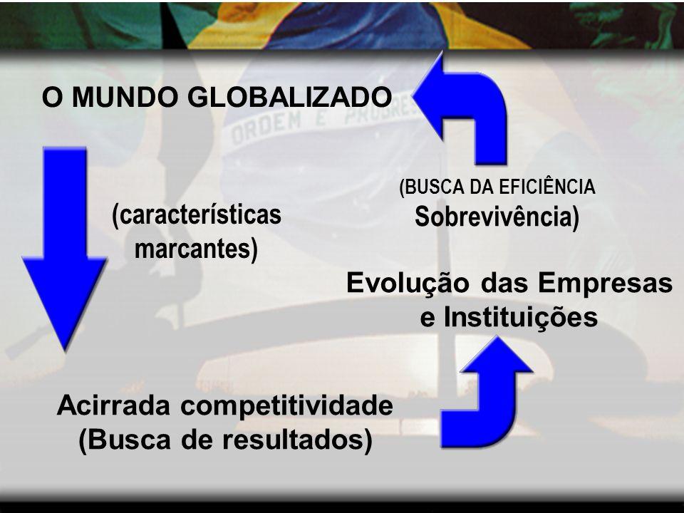 Evolução das Empresas e Instituições Acirrada competitividade
