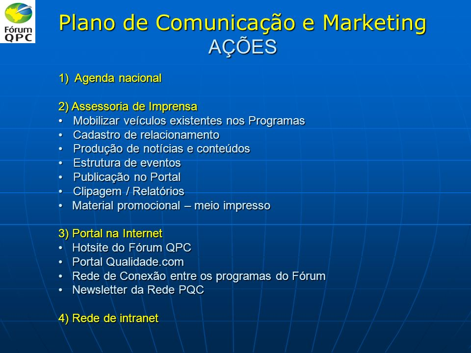 Plano de Comunicação e Marketing