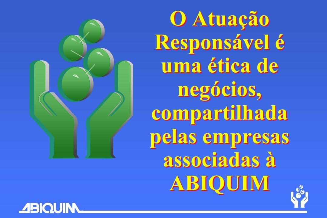 O Atuação Responsável é uma ética de negócios, compartilhada pelas empresas associadas à ABIQUIM