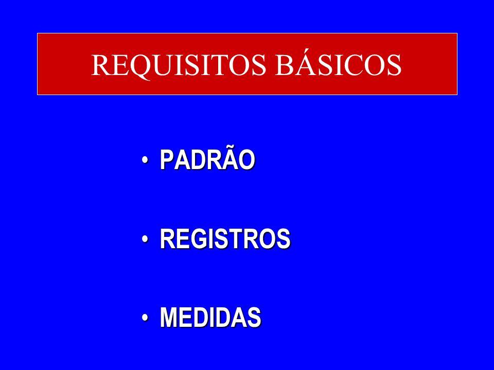 REQUISITOS BÁSICOS PADRÃO REGISTROS MEDIDAS
