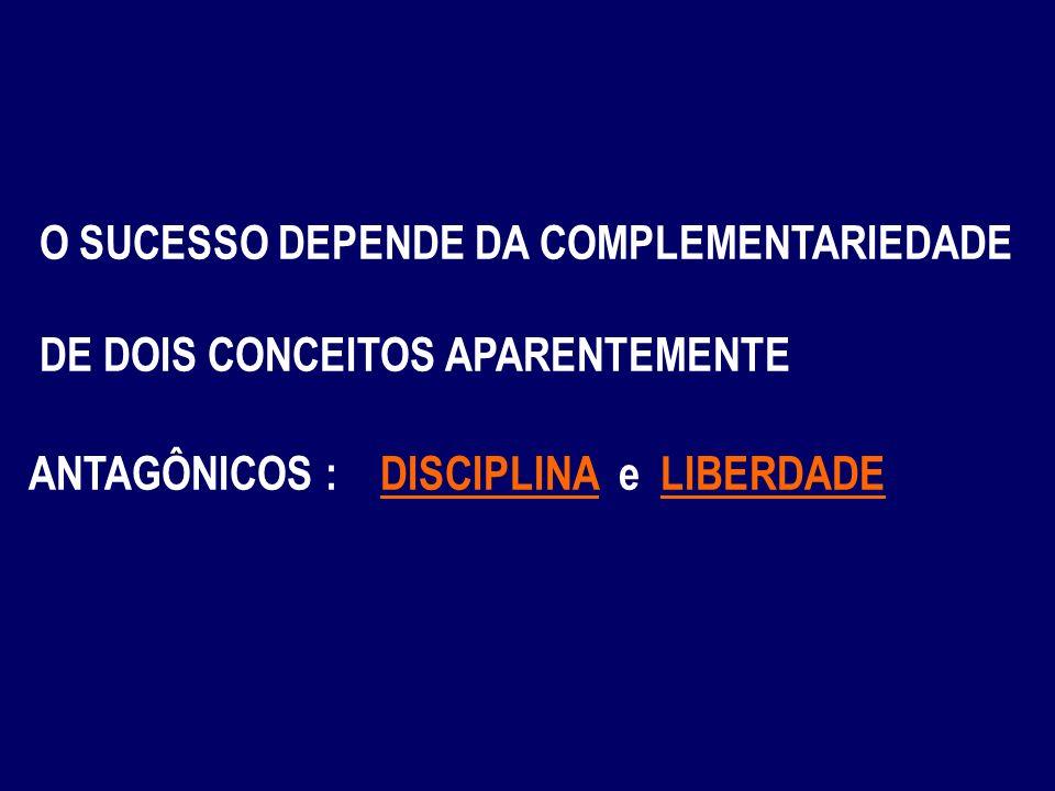 O SUCESSO DEPENDE DA COMPLEMENTARIEDADE