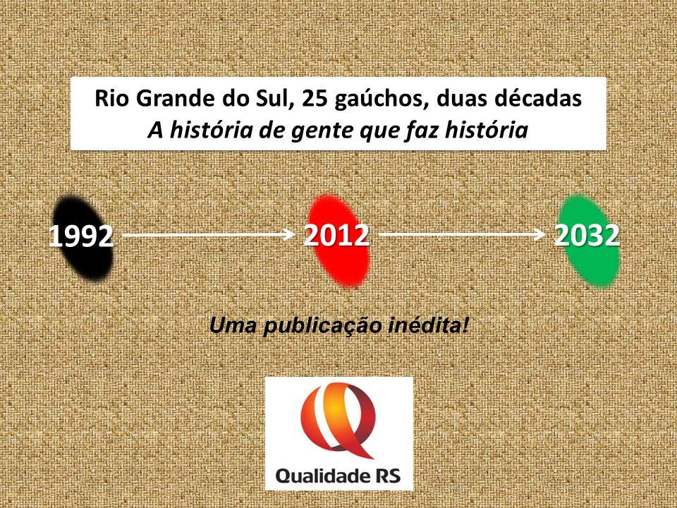 1992 2012 2032 Rio Grande do Sul, 25 gaúchos, duas décadas