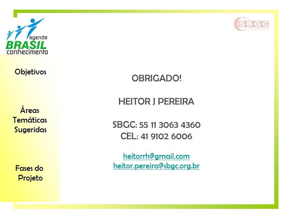 OBRIGADO! HEITOR J PEREIRA SBGC: 55 11 3063 4360 CEL: 41 9102 6006