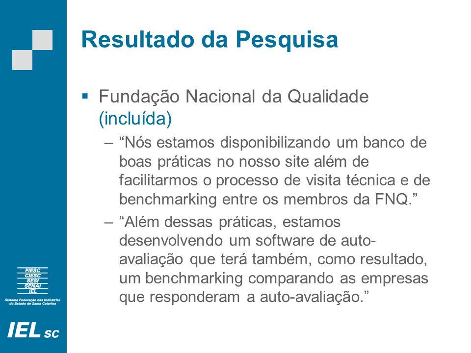Resultado da Pesquisa Fundação Nacional da Qualidade (incluída)