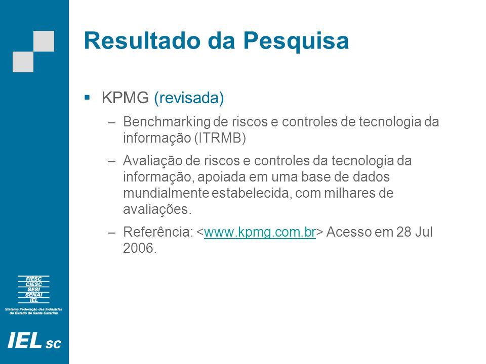 Resultado da Pesquisa KPMG (revisada)