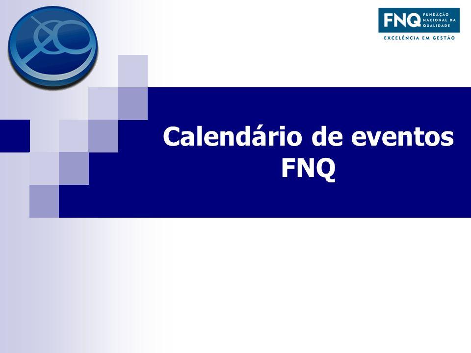 Calendário de eventos FNQ