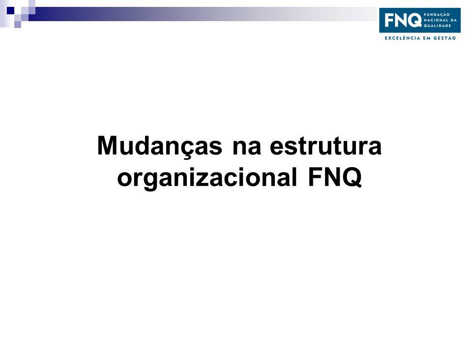 Mudanças na estrutura organizacional FNQ