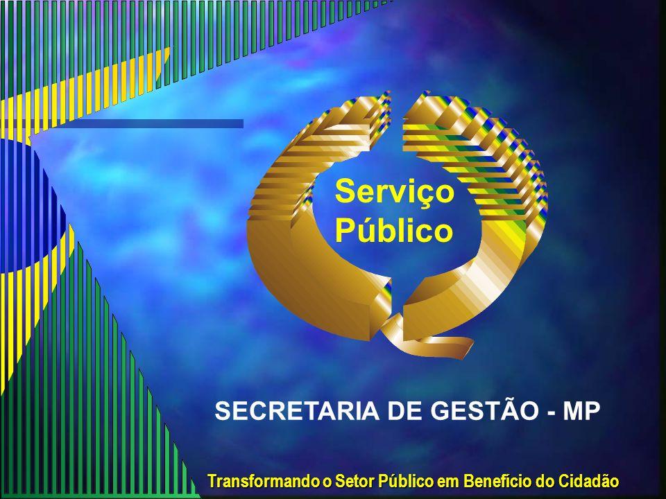 Serviço Público SECRETARIA DE GESTÃO - MP
