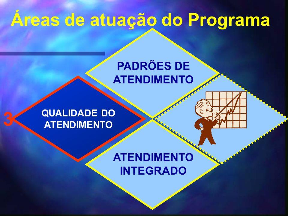 Áreas de atuação do Programa PADRÕES DE ATENDIMENTO