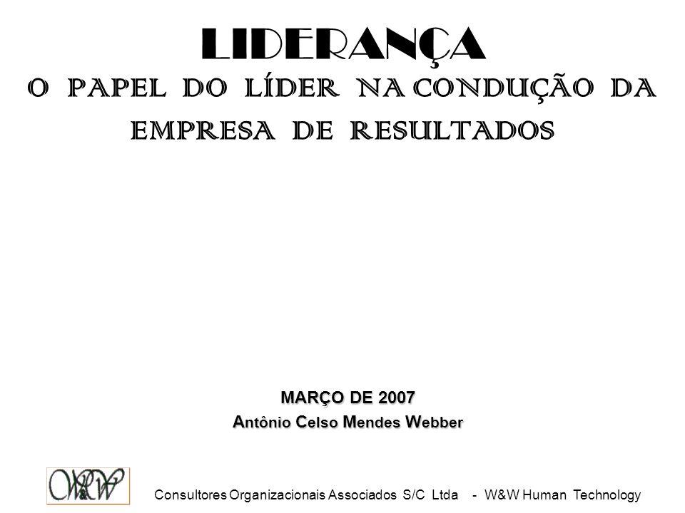 LIDERANÇA O PAPEL DO LÍDER NA CONDUÇÃO DA EMPRESA DE RESULTADOS
