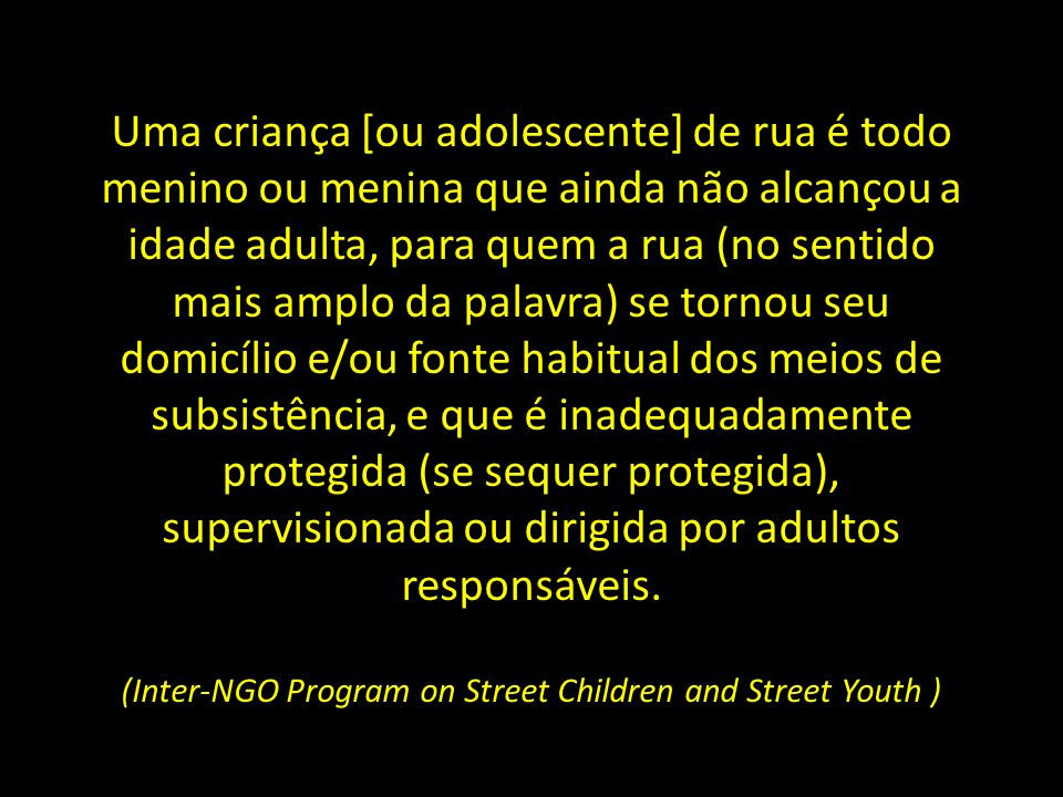 (Inter-NGO Program on Street Children and Street Youth )
