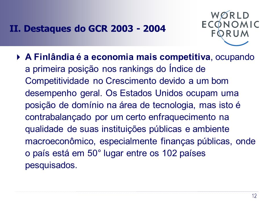 II. Destaques do GCR 2003 - 2004
