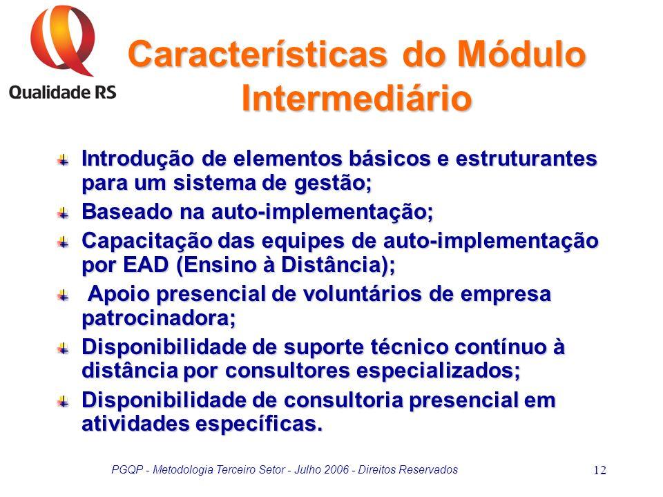 Características do Módulo Intermediário
