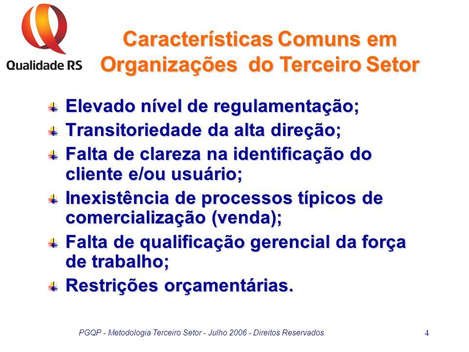 Características Comuns em Organizações do Terceiro Setor