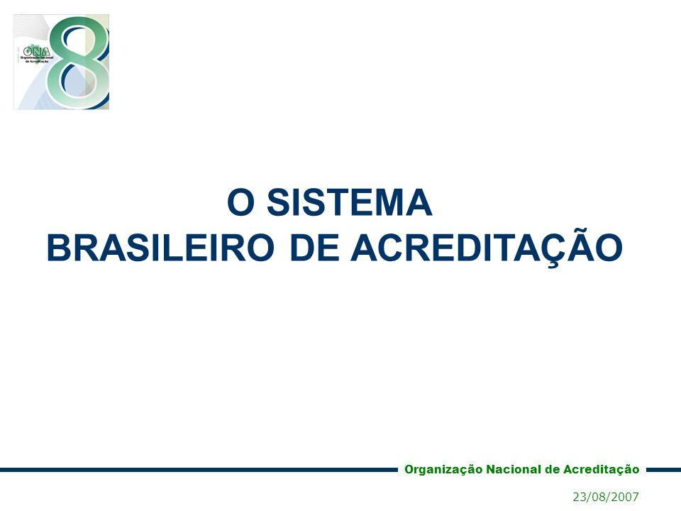 O SISTEMA BRASILEIRO DE ACREDITAÇÃO