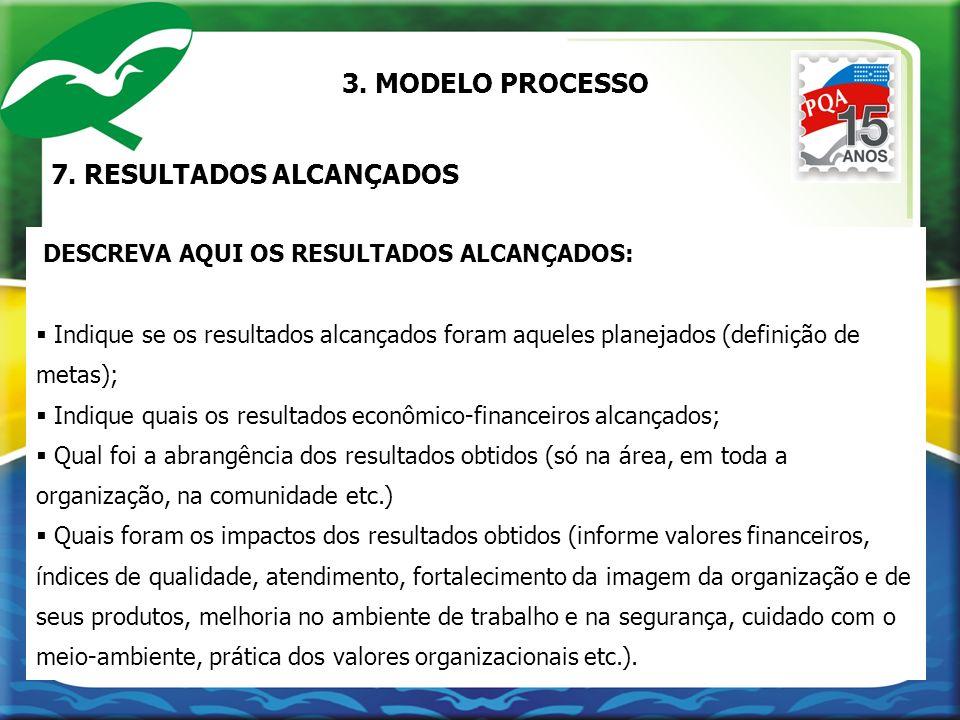 7. RESULTADOS ALCANÇADOS