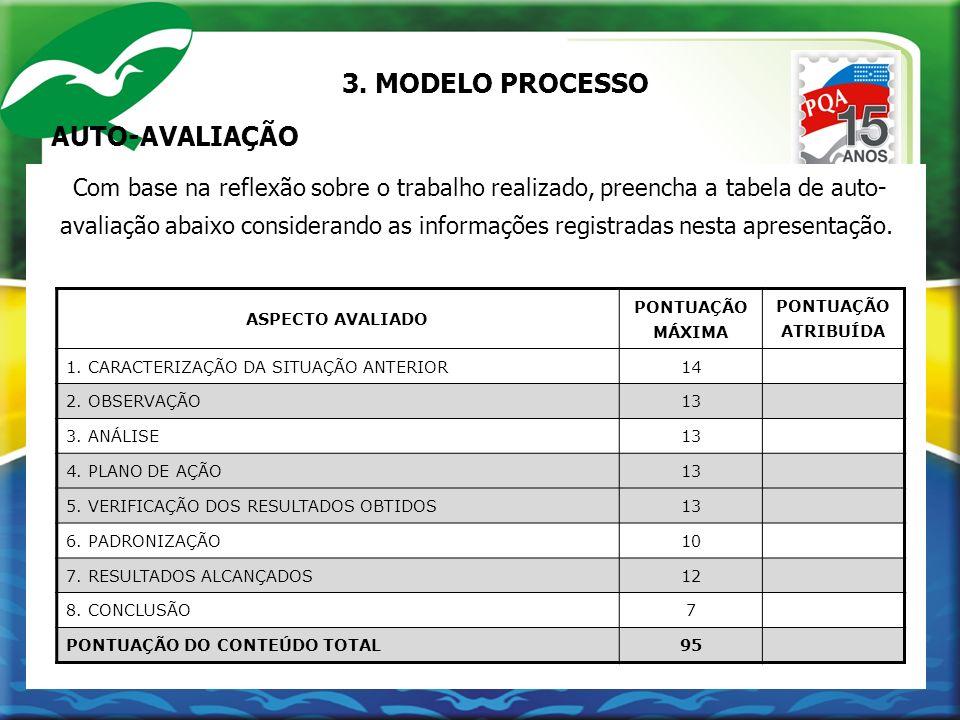 3. MODELO PROCESSO AUTO-AVALIAÇÃO