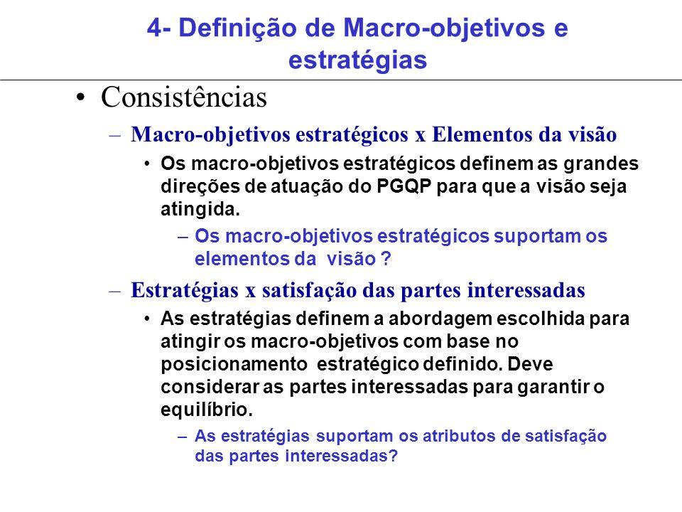 4- Definição de Macro-objetivos e estratégias