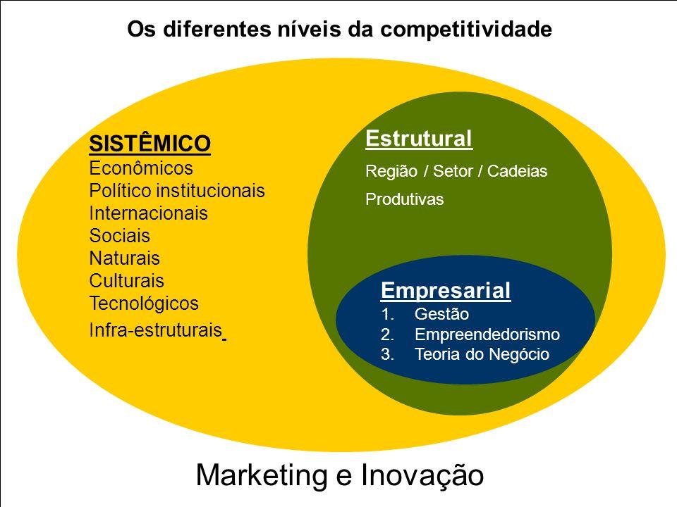 Marketing e Inovação Os diferentes níveis da competitividade