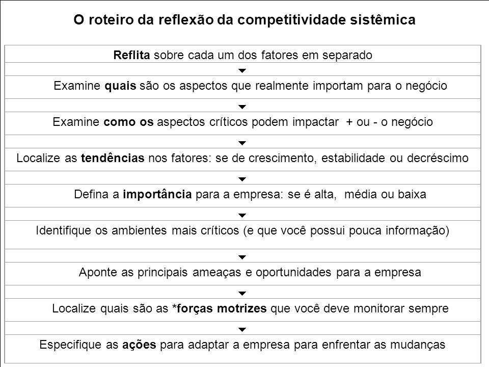 O roteiro da reflexão da competitividade sistêmica