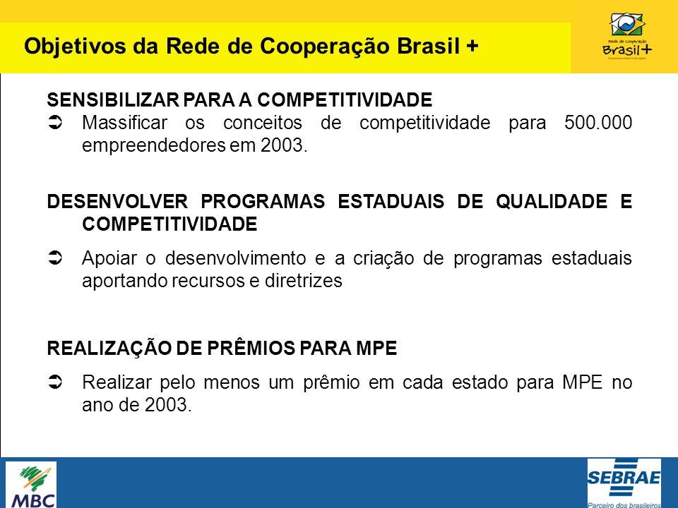 Objetivos da Rede de Cooperação Brasil +
