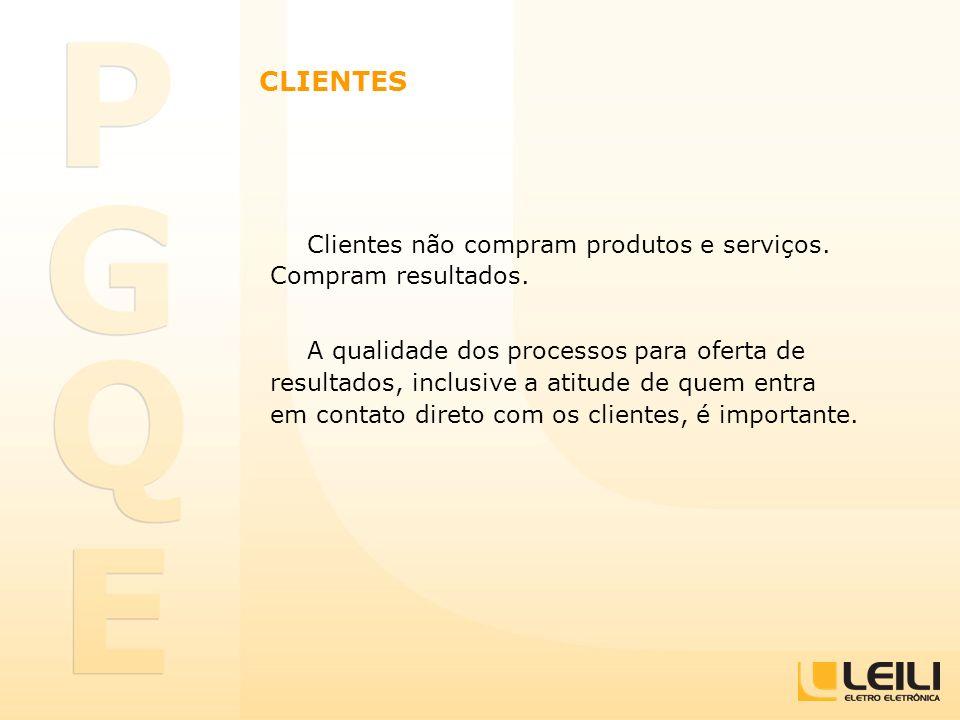 CLIENTES Clientes não compram produtos e serviços. Compram resultados.