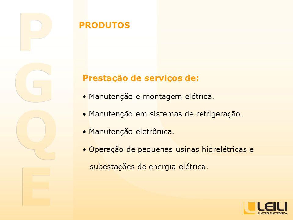 Prestação de serviços de: