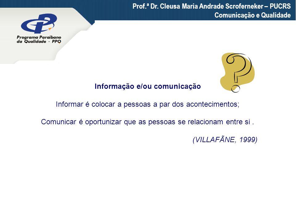 Informação e/ou comunicação
