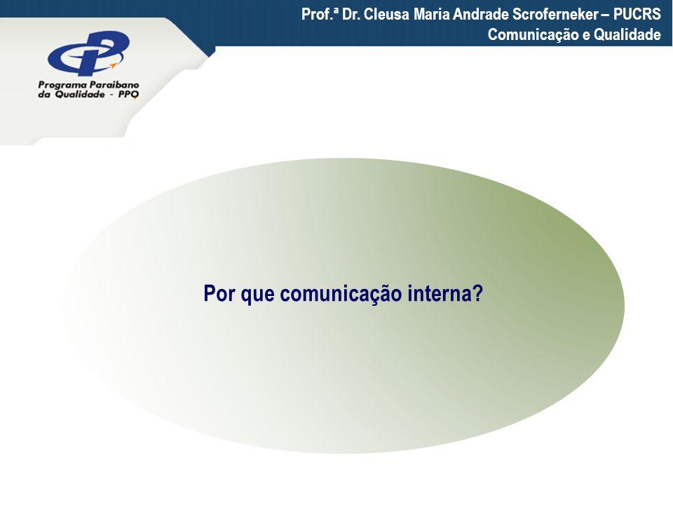 Por que comunicação interna