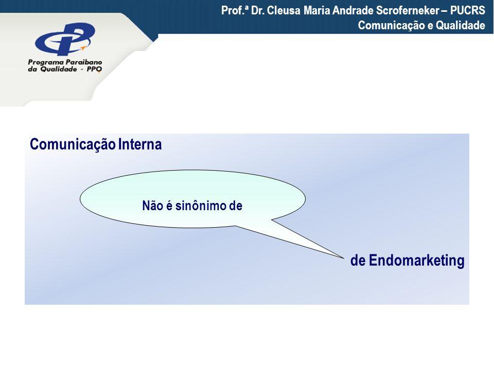 Comunicação Interna de Endomarketing Não é sinônimo de