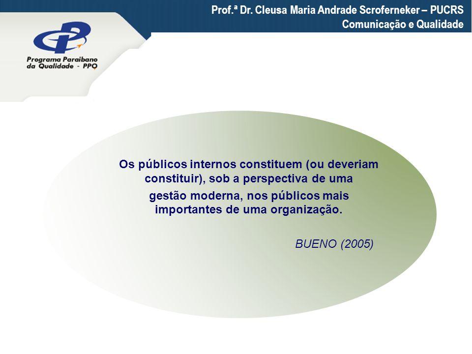 gestão moderna, nos públicos mais importantes de uma organização.